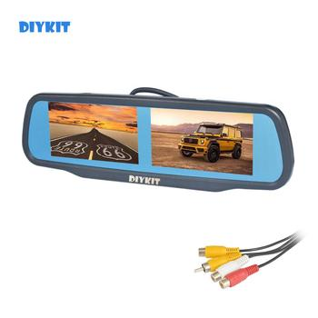 "DIYKIT Dual 4.3"" TFT LCD Mirror Monitor Car Monitor for Dvd Video Player Reversing Backup Car Camera"