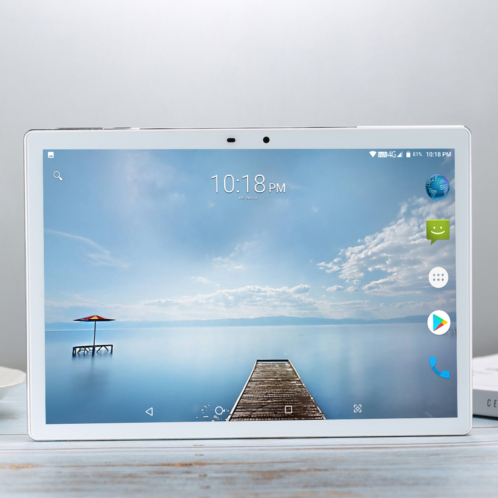 Tablet 256G Global 3G WIFI Sea Bluetooth Android 7.0 10 Inch Tablet Deca 10 Core Helio X27 8GB RAM 256GB ROM 2.5D Screen Tablets