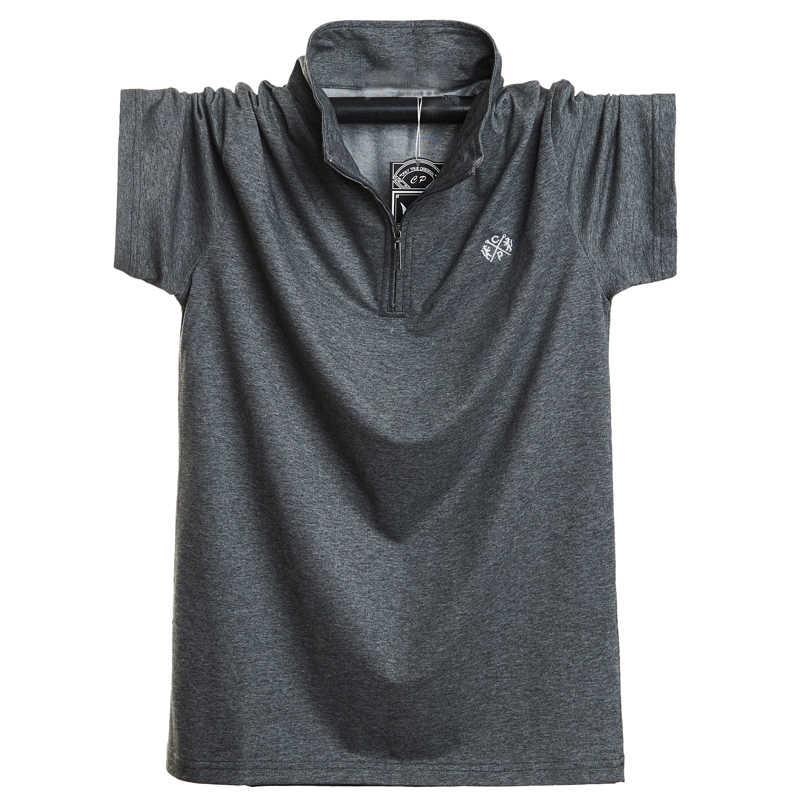 새로운 2020 패션 남자 폴로 셔츠 면화 짧은 소매 여름 통기성 셔츠 남자 멋진 폴로 셔츠 캐주얼 셔츠 5XL 6XL 플러스 크기