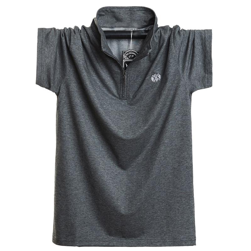 חדש 2020 אופנה גברים פולו חולצת כותנה קצר שרוול קיץ לנשימה חולצה גברים מגניב פולו חולצות מקרית חולצות 5XL 6XL בתוספת גודל-בפולו מתוך ביגוד לגברים באתר