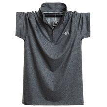 חדש 2020 אופנה גברים פולו חולצת כותנה קצר שרוול קיץ לנשימה חולצה גברים מגניב פולו חולצות מקרית חולצות 5XL 6XL בתוספת גודל