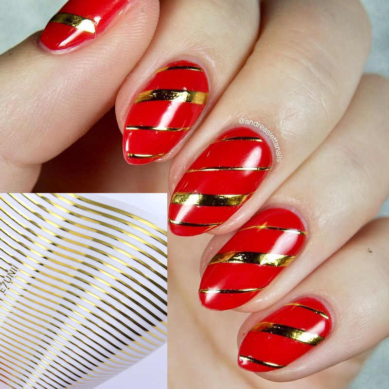 1Pc Gold 3D Nail Stickers Curve Streep Lijnen Nagels Stickers Gradient Zelfklevende Striping Tape Nail Foil Nail Art Decals zilver