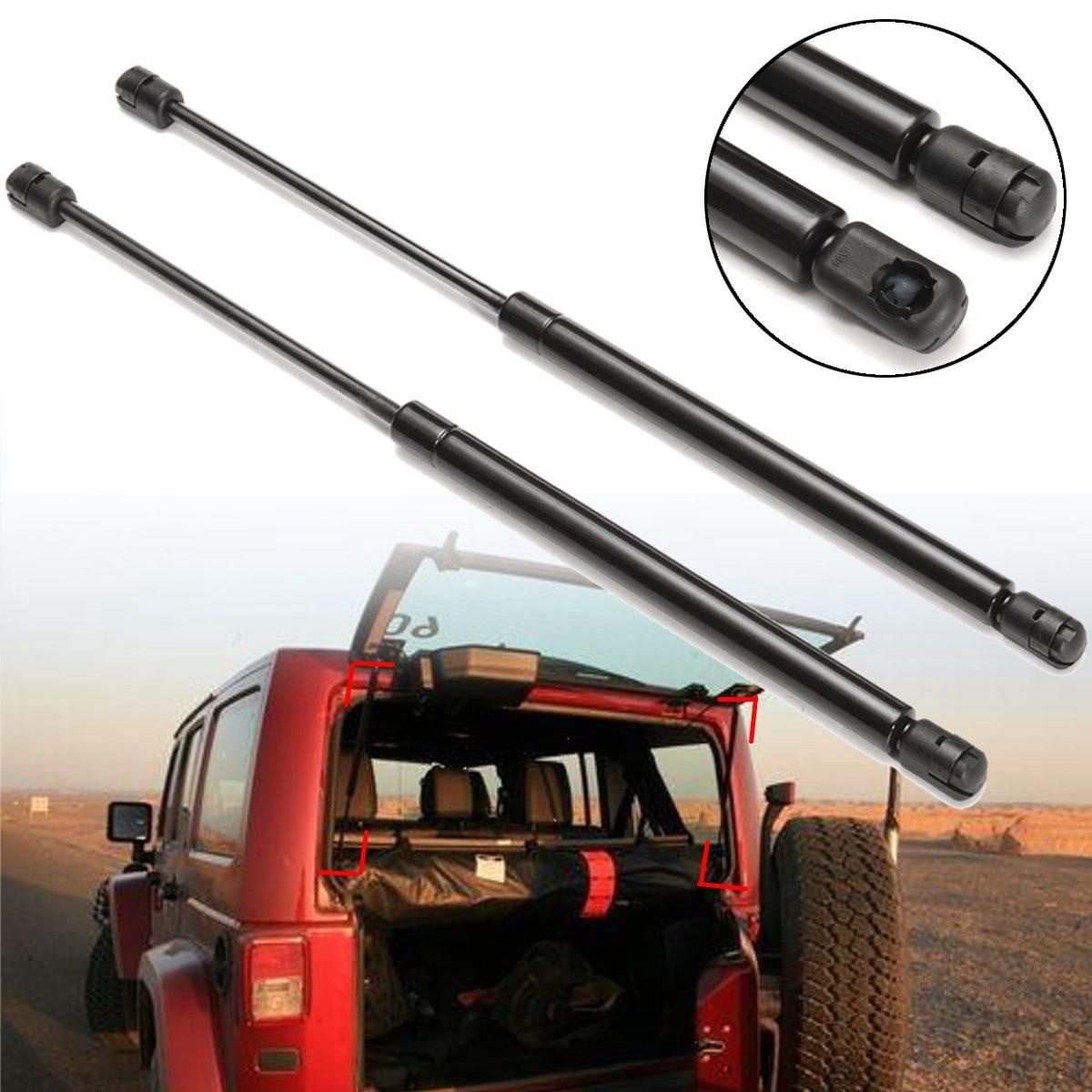 2pcs Rear Window Glass Lift Support Shock For 02-07 Jeep Liberty Gas Struts