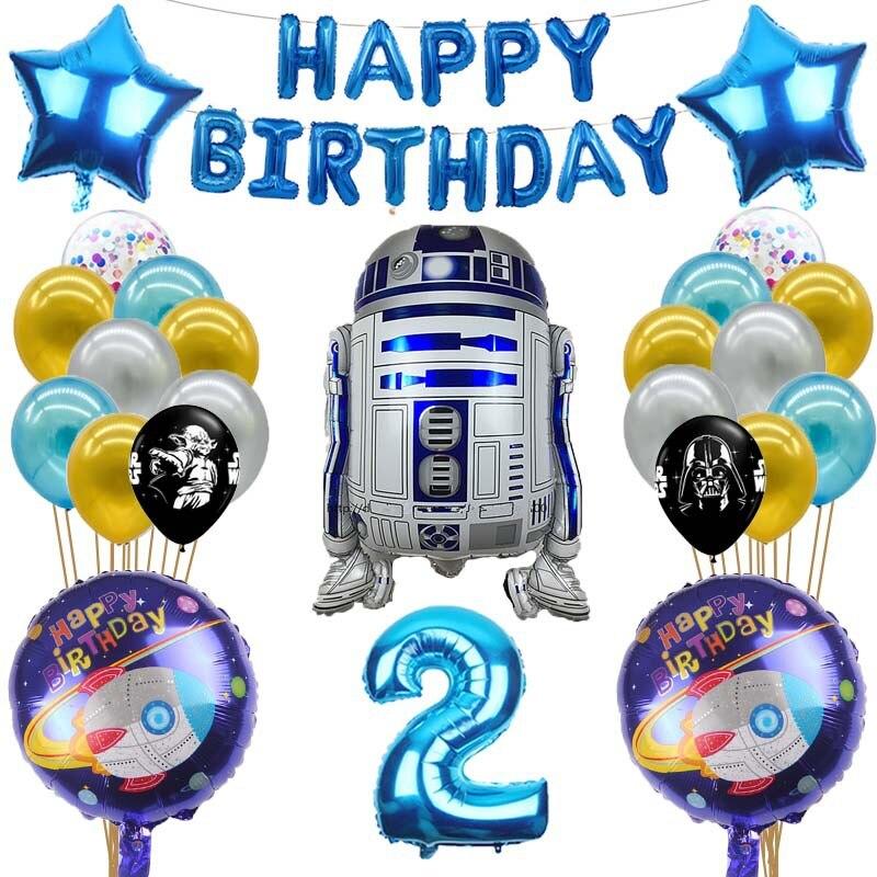 ZSWQ Confezione da 17 Palloncini Star Wars Decorazione A Tema di Star Wars Set di Temi di Gioco per Feste,carneval e Compleanni,Ideale per Decorare Le tue Feste.