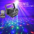 Мини-лазерный светильник  яркая вспышка  звездная атмосферная лампа  USB 60 узор  с пультом дистанционного управления  сценический светильник ...