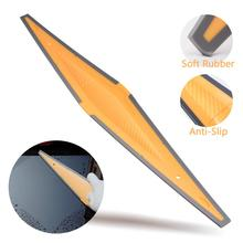 EHDIS Car Window Water Wipe Squeegee Carbon Fiber Wrap Vinyl Scraper Windshield Glass Snow Remove Cleaner Auto Tinting Wash Tool