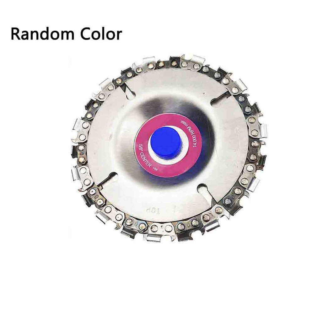 Round Shape Durable Use Woodworking Grinder Disc Fine Chain Saw Grinding Chain Wheel Wood Carving Disc For Angle Grinder
