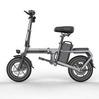 Nowy bez łańcucha rower elektryczny 14 cali Mini rower elektryczny 48V10A miasto ebike 32 KM/H 350W potężny rower/pełna przepustnica sctooer