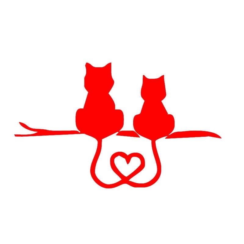 EmpireYing 8 renkler romantik kedi severler hep birlikte araba Sticker dizüstü kano dekor su geçirmez yansıtıcı vinil çıkartması hediyeler