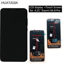 "6.21 ""xiaomi mi 8プロスーamoled digiziter origina lのlcdスクリーンディスプレイ + タッチパネル画面指紋バージョン"