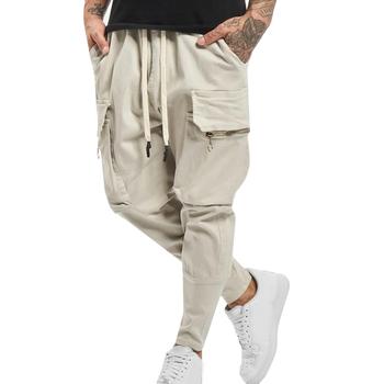 Dorywczo spodnie męskie bawełniane spodnie sportowe sznurkiem Harem spodnie kieszonkowe dorywczo spodnie dla Jogger mężczyzna moda męska odzież tanie i dobre opinie CN (pochodzenie) Poliester COTTON Kieszenie Luźne men s pants Na co dzień Midweight Suknem Pełnej długości Sznurek
