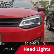 Фара для автомобиля VW Polo 2010- Vento головной светильник s противотуманный светильник s дневной ходовой светильник DRL H7 светодиодный Биксеноновая лампа автомобильные аксессуары