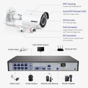 Image 4 - ANNKE 8CH 4K Ultra FHD POE сетевая система видеонаблюдения 8MP H.265 NVR с 4X 8MP Всепогодная ip камера видеонаблюдения