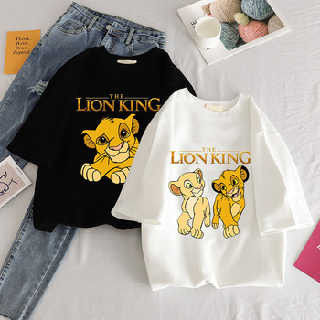 Hakuna Matata Harajuku Kawaii Lion King Graphic Tees Women Tops Aesthetic T Shirt Crew Neck Summer Clothes For Women Plus Size