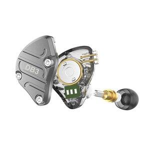 Image 4 - NICEHCK DB3 1BA + 2DD hybride 3 unités de pilote dans loreille écouteur moniteur en cours dexécution Sport écouteur HIFI casque métal DJ Earbud IEM MK3