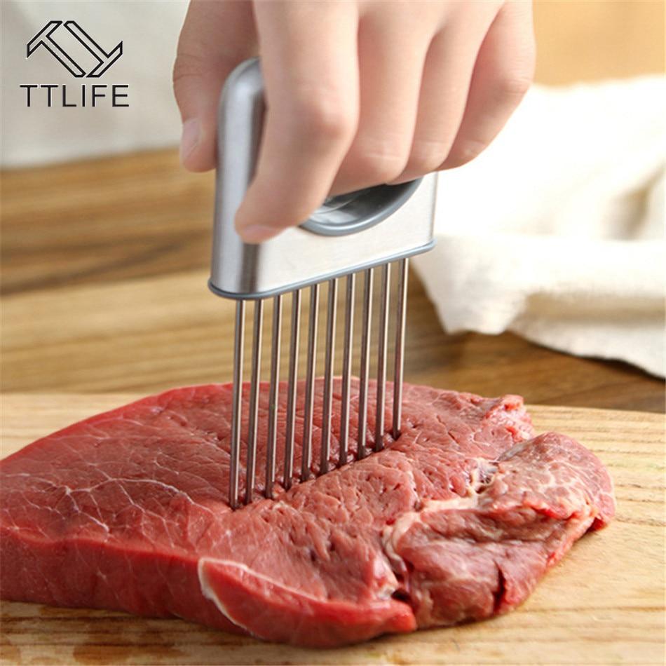 TTLIFE Meat Tenderizer Handheld Steak Chicken Cutter Tenderizer Fruit Vegetable Slicer for Kitchen & BBQ Pork Rind Tenderizer