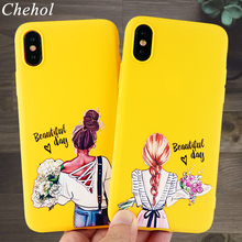 Fashion Phone Cases for iPhone X XS MAX XR 11 8 7 6s Plus Pro Case Paris Girl Soft Silicone Fitted Cell Covers Accessories