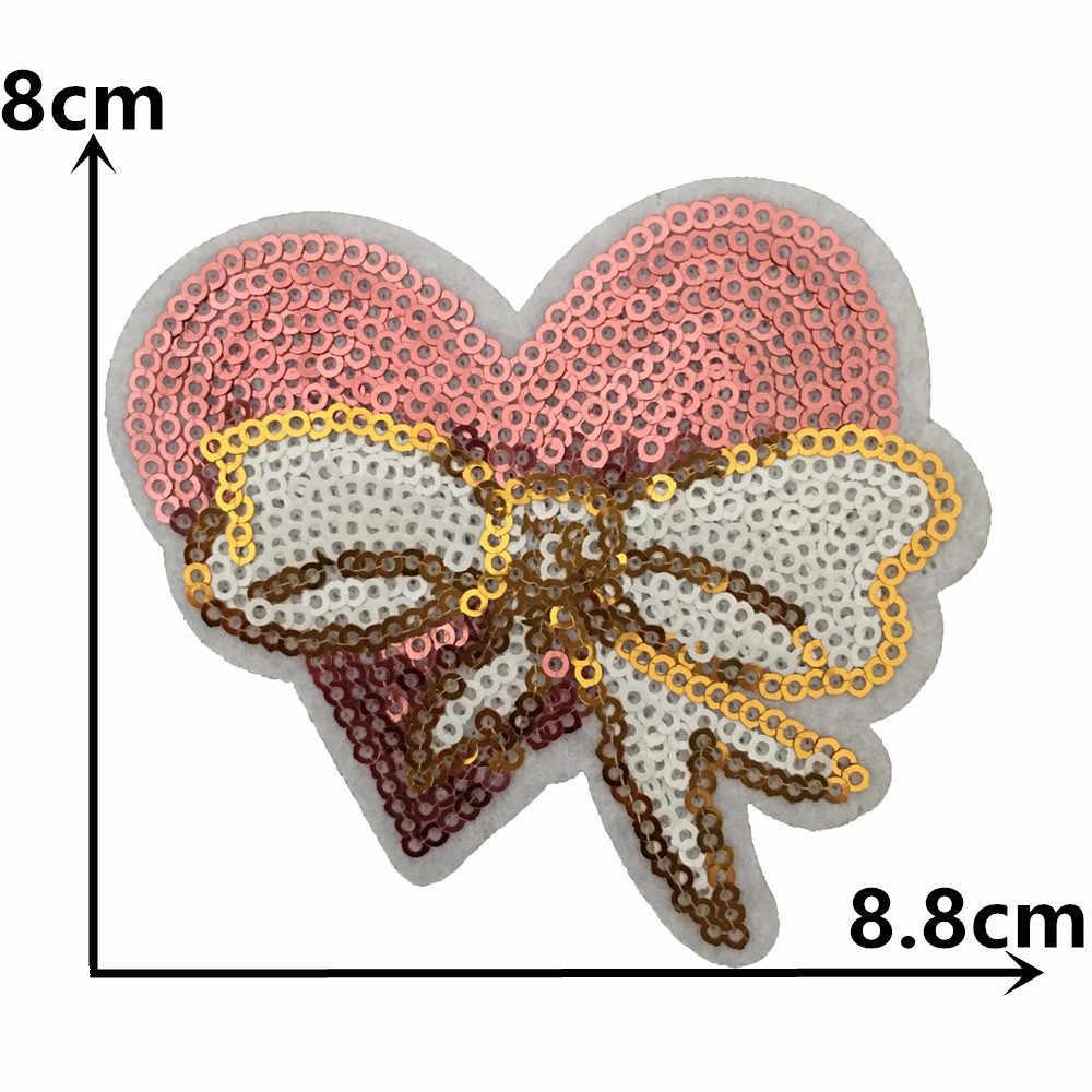 תפירת ברזל תיקון תג נצנצים רקמת Applique תפירת ברזל תג לילדים בנות קישוט שמלת אבזרים