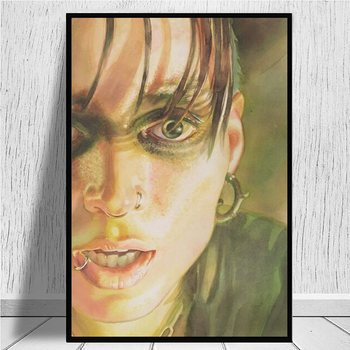 Lisbeth Salander, The Girl with the Dragon Tattoo canvas prints Painting On Canvas Posters Prints Cuadros Home Decor Bedroom image