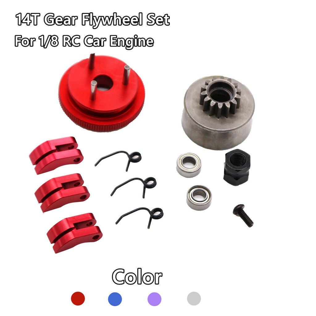14T Gear Clutch Bell Flywheel Assembly Set fr RC 1:8 Team  ZD Racing Car