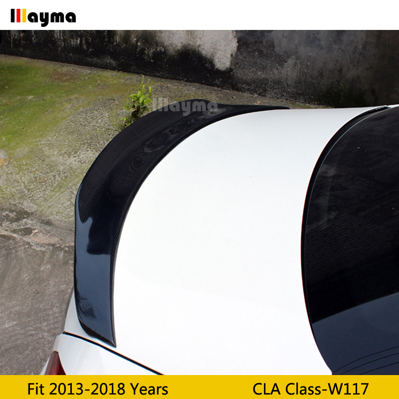 PSM Style Carbon Fiber rear trunk <font><b>spoiler</b></font> For Benz CLA Class CLA180 CLA200 <font><b>CLA250</b></font> W117 2013-2018 year Car rear wing <font><b>spoiler</b></font> image