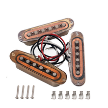 Электрогитара хамбакер Alnico 5 магнит одна катушка звукосниматели(шея и средний и мост) бронза