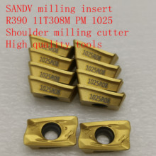 20PCS R0.8 SANDV high quality milling insert R390 11T308M PM 1025 carbide tool, shoulder cutter CNC tool