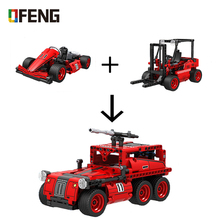 Winner 2 IN 1 Technic Creator Building Blocks F1 Pull Back Car model Sets Figure Bricks Classic Toys For Children Gifts