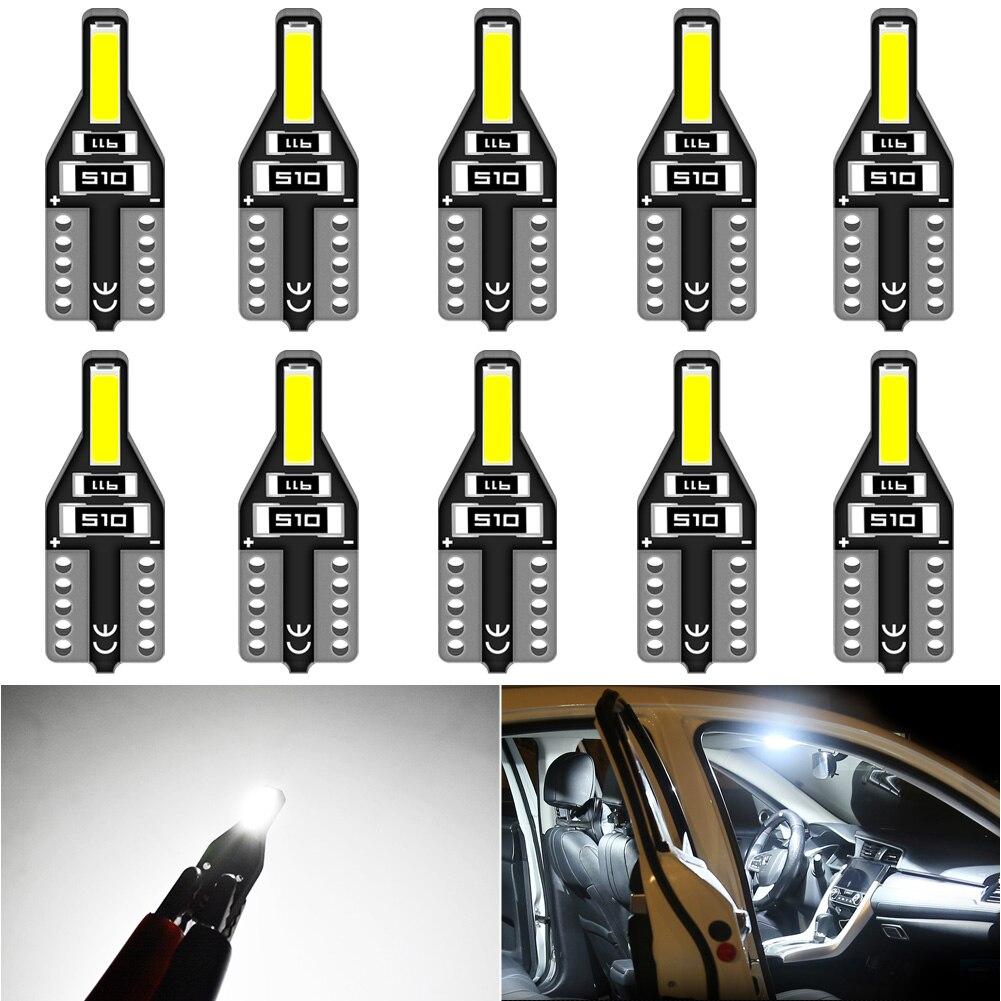 Ampoule Led pour Alfa Romeo 159 147 156 166 164, 10 pièces, W5W T10, éclairage d'intérieur de voiture, giuletta Mito Brera GT Spider Stelvio