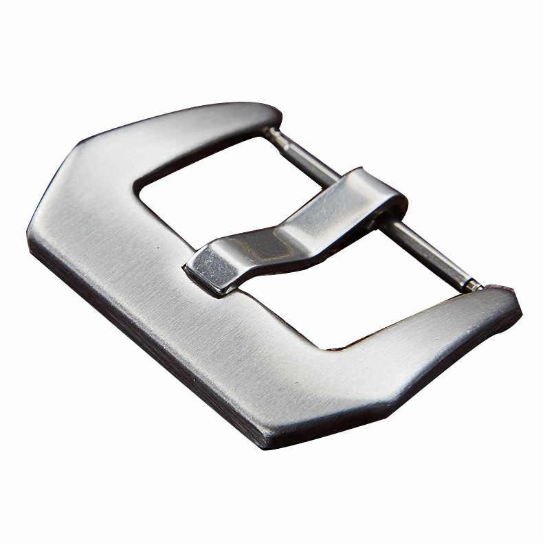 Paslanmaz Çelik Gümüş Siyah kemer tokası için Kordonlu Saat kopça toka Için saat kayışı 18mm 20mm 22mm 24mm bant