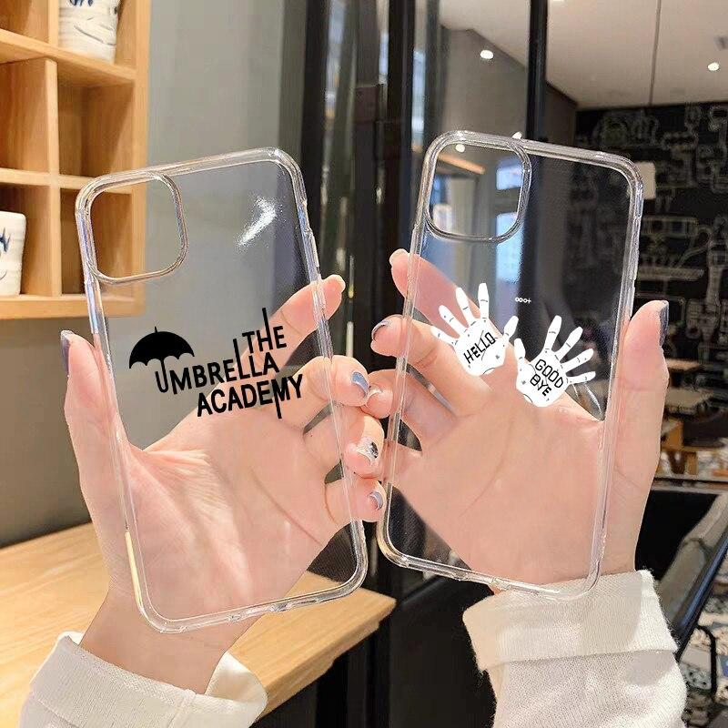 GYKZ Fashion The Umbrella Academy Clear Phone Case For iPhone X 11 Pro XS MAX SE2020 X XR 7 6 8 Plus Soft TPU Cover Fundas Coque