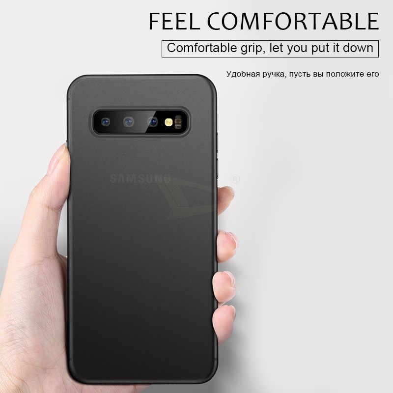 0.3mm Ultra mince étui pour téléphone mat pour Samsung Galaxy Note 10 Pro 8 9 S8 S9 S10 PLus S10E mince PP couverture complète coques antichoc Coque