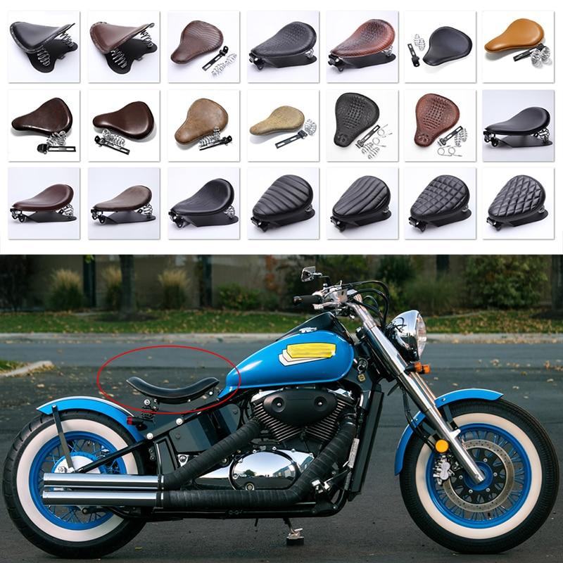 Universal Moto Bobber Motorcycle Solo Seat Chopper Saddle Vintage Cushion Parts For Harley Davidson Iron 883 Sportster Softail