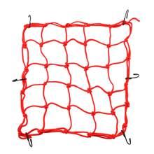 6 crochets de maintien de cargaison pour moto, filet rouge 40x40cm