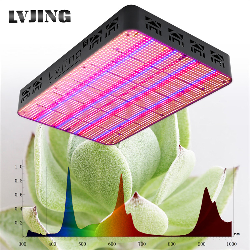 LVJING 600W 1200W 2500W Full Spectrum Grow Light LED Timing Color Change Lamp For Plants Indoor Flowers Hydroponics Tent Growbox