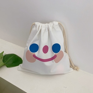 Sweet Girls Canvas Bags Cartoon Printed Drawstring Bags 2020 Fashion Crossbody Bags Casual Simple Shoulder Bag