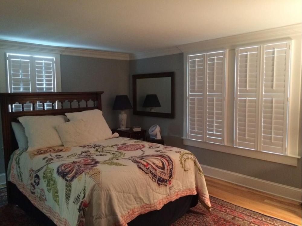 Custom Basswood Plantation Shutters Wooden Blinds Solid Wood Shutter Louvers PS237