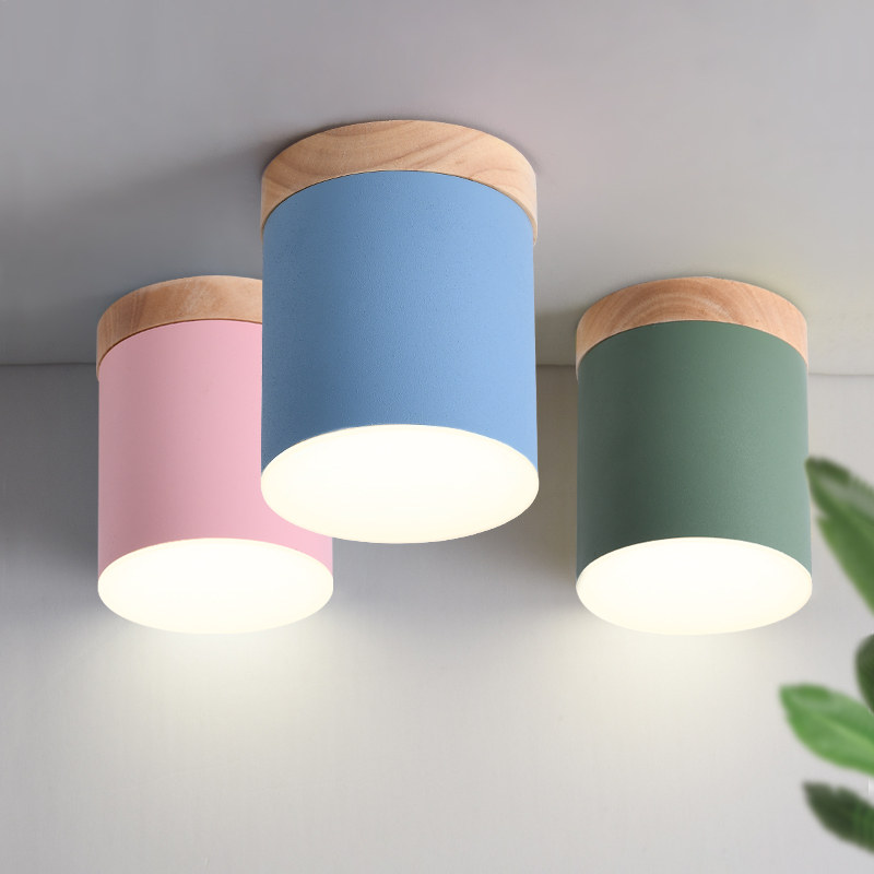 8 Colors AC220V Modern Luxury White Ceiling Indoor Lighting Fixture Bedroom Lamp Living Room LED Lights Wood Lamps Home Lighting