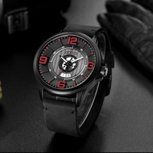 reloj hombre 2019 Unique Watch Men Casual Business Leather Watch Fashion Sports Quartz Wristwatches Waterproof Date Male Clock цена и фото