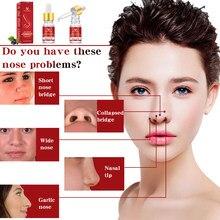 1pc hotsale prático nasal osso lift essência massagem óleo nasal aumento do nariz aumentar o emagrecimento osso remodelação essência apertado nariz fino