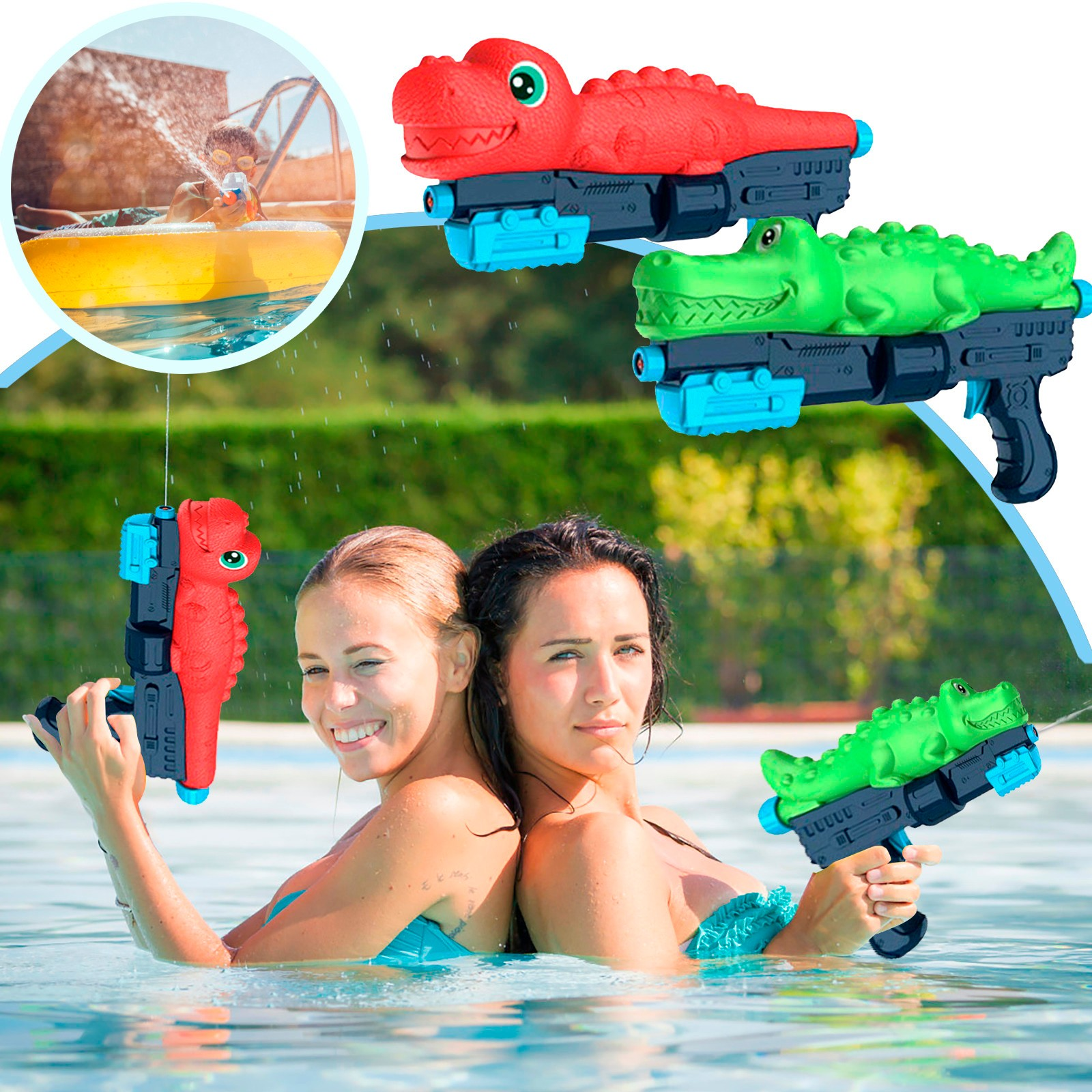 Summer Swimming Pool Dinosaur Water Guns Toy Games Educational Children's Indoor And Outdoor Water War And Water Sprayparty Toy