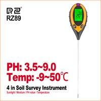 RZ 4 IN 1 Boden Tester Feuchtigkeit Detektor Digitalen PH Meter Boden Feuchtigkeit Monitor Hygrometer Gartenanlage Lignt Sonnenlicht Tester-in PH-Meter aus Werkzeug bei