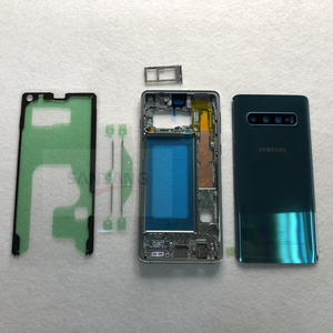 Image 2 - Dành Cho Samsung Galaxy Samsung Galaxy S10 Plus G975 G975F G973 G973F Full Nhà Ở S10 + Bao Pin Mặt Trận Trung Khung Viền Kim Loại kính Cường Lực Mặt Sau Cove