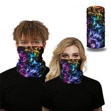 Sky Design Scarf Print Outdoor Half Face Mask Sun Protection Headband Bandana Headwear Bicycle Snowboard Neck Scarves
