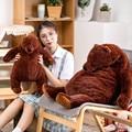 60 см/100 см мягкий коричневый медведь DJUNGELSKOG плюшевые игрушки мягкий медведь Подушка Плюшевые игрушки Тедди обнимающая Подушка для детей под...