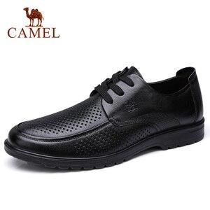 Image 5 - CAMEL chaussures pour hommes été en cuir hommes affaires décontracté grand cuir chevelu peau de vache ensembles papa chaussures anti dérapant élastique résistant chaussures hommes