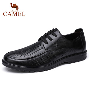 Image 5 - Deve erkek ayakkabıları yaz deri erkek iş rahat büyük kafa derisi inek derisi setleri baba ayakkabı kaymaz elastik dayanıklı ayakkabı erkekler