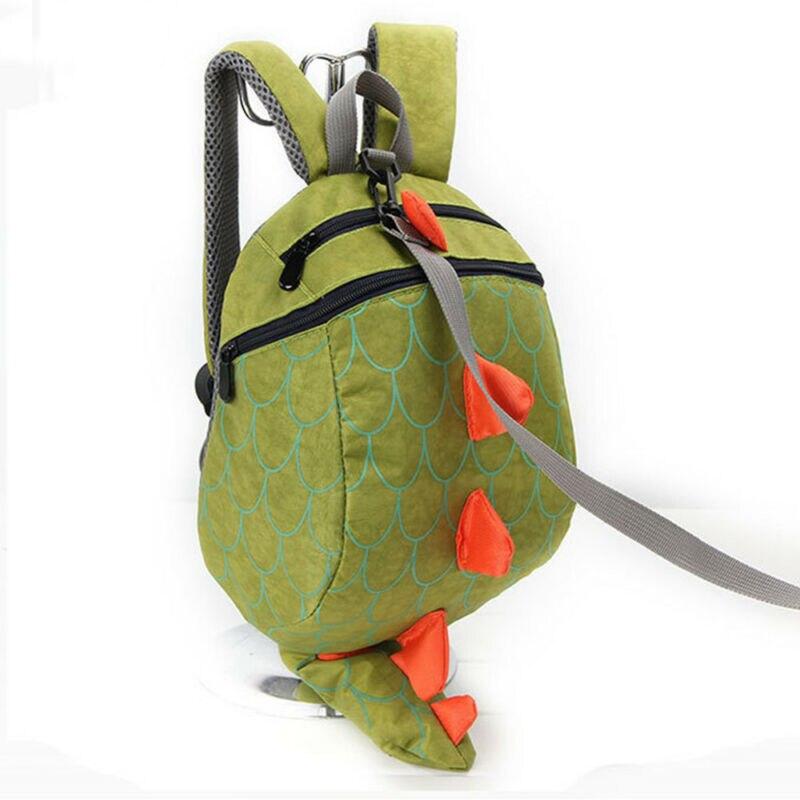 Child Kids Cartoon Dinosaur Adjustable Backpack Bag Anti-Lost Schoolbag