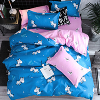 Bedding Outlet Zebra Bedding Set Printed Duvet Cover Set pink blue Animal Bed Cover Pillow Case Twin Full Queen King Home