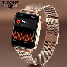 LIGE New Color Screen Smart Watch Women men Full Touch Fitness Tracker Blood Pressure Smart Clock Women Smartwatch for Xiaomi